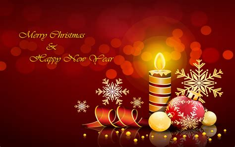 merry christmas  happy  year decorative candle decorations greeting card