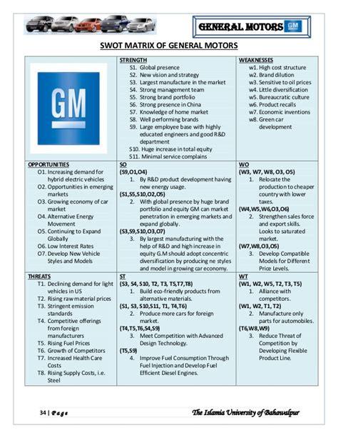 general motors market value general motor strategic management analysis