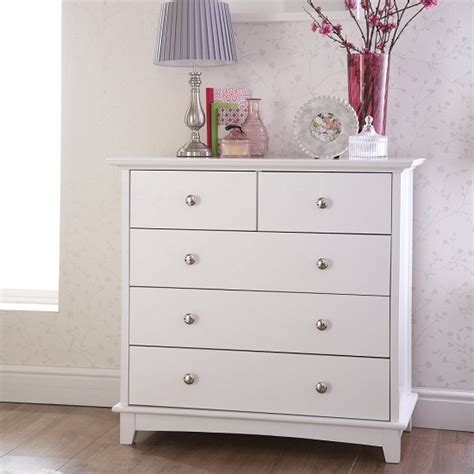 White Wooden Chest Of Drawers Tornado Wooden Chest Of Drawers In White With 3 2 Drawers