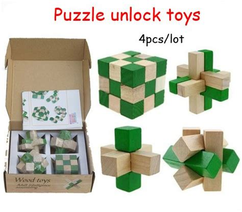 Puzzle 3d Great Minds Set Of 5 wood brain teaser puzzles educational factory