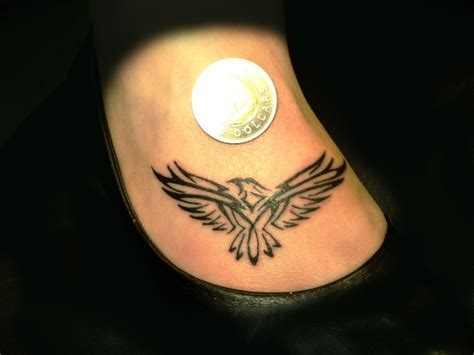 small eagle tattoos small eagle incendiary tattoos on foot tattoos a