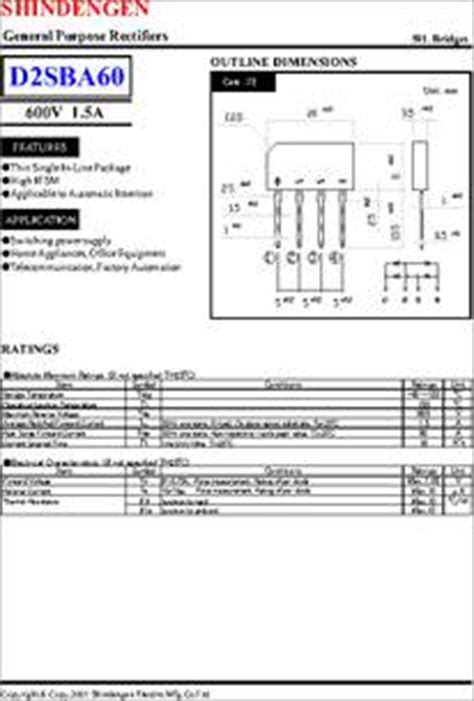 d2sba diode bridge d2sba60 datasheet general purpose rectifiers sip bridges