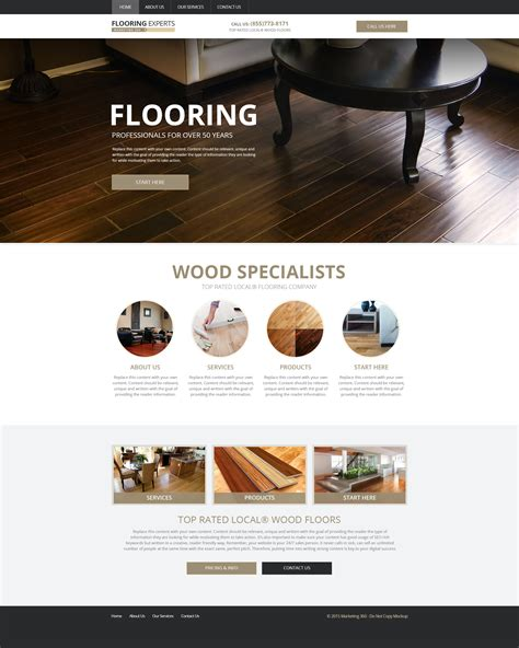 flooring website designs mobile responsive templates flooring contractor marketing 360 174