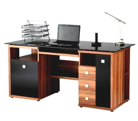Luxury Desks For Home Office Home Office Modern Luxury Computer Desk Designed With Brown Wooden And Black Tabletop Also