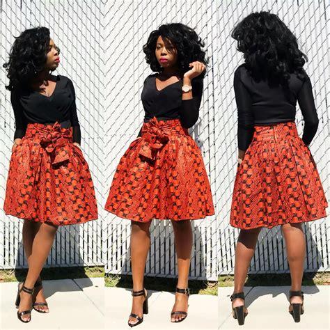 african attire skirt ankara skirt with waistbelt african print african skirt