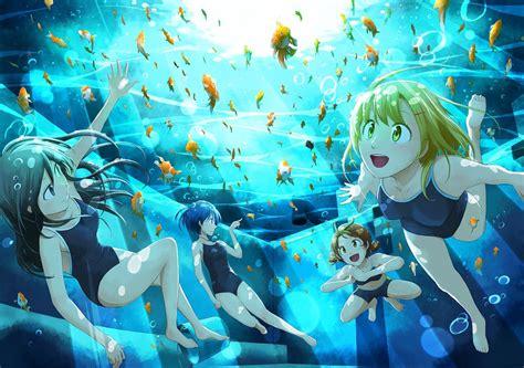 anime underwater swimming underwater by erikachan16 on deviantart once an