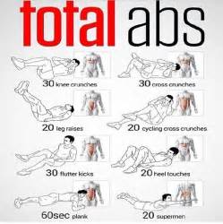 Routine abs workout fitness exercise work out ab workouts total