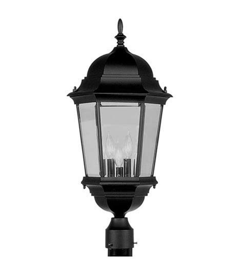 3 Inch Outdoor L Post by Livex 7568 04 Hamilton 3 Light 27 Inch Black Outdoor Post