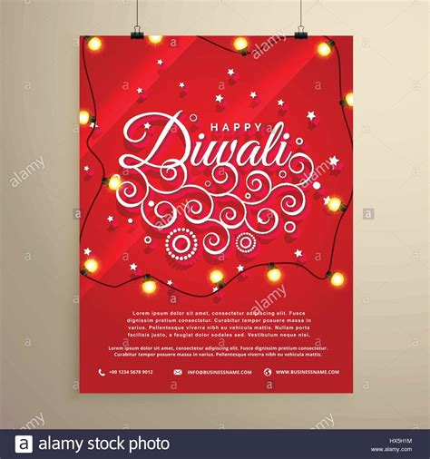 diwali invitation card template diwali flyer invitation template for the festival stock