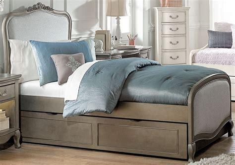 trundle bedroom sets kensington antique silver katherine upholstered youth