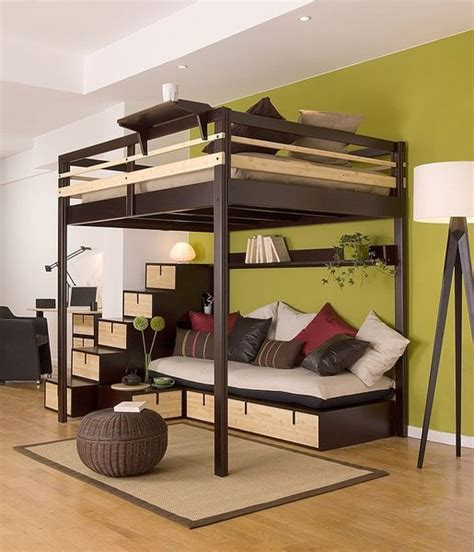 double loft bed with futon loft beds for adults
