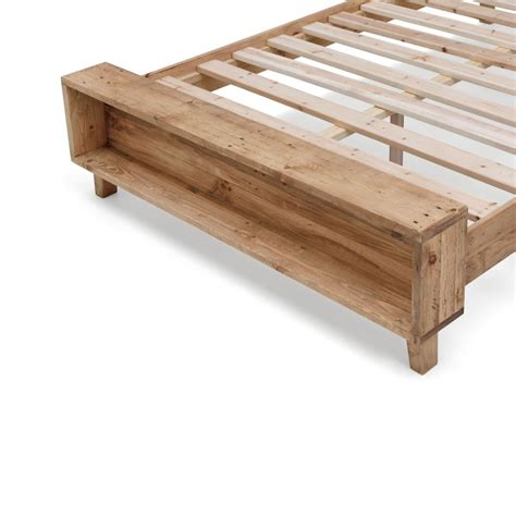 rustic queen bed frame portland queen rustic recycled timber bed frame buy