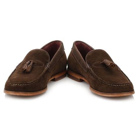 mens suede loafers ted baker mens brown tassel loafers slim on suede
