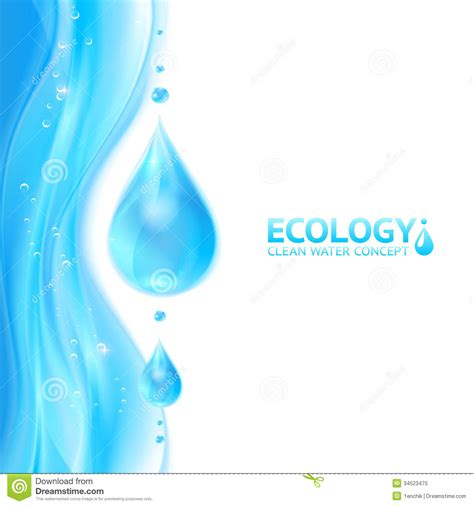water drops vector ecology background royalty free stock