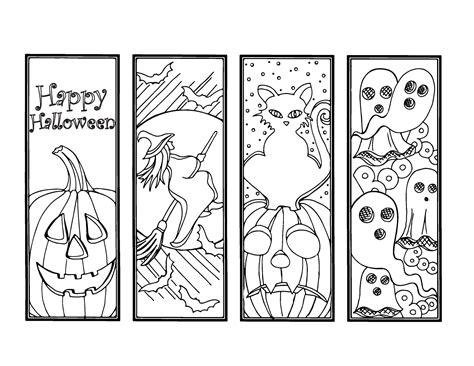 printable halloween bookmarks to color diy halloween bookmarks holiday crafts color your own