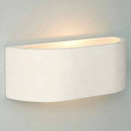 pair of modern planter style white ceramic wall lights by