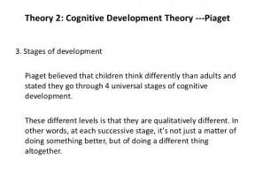 Cognitive Development Essay by Essays On Cognitive Development In Adolescence Piaget Nozna Net