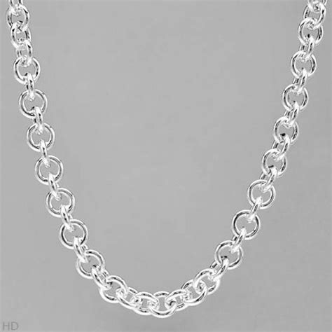 17 inch neck 17 inch 925 sterling silver neck chain made in italy