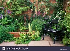 Small Walled Garden Design Ideas Raised Brick Pond In Small Walled Garden Design Roger Platt Stock Photo Royalty Free Image