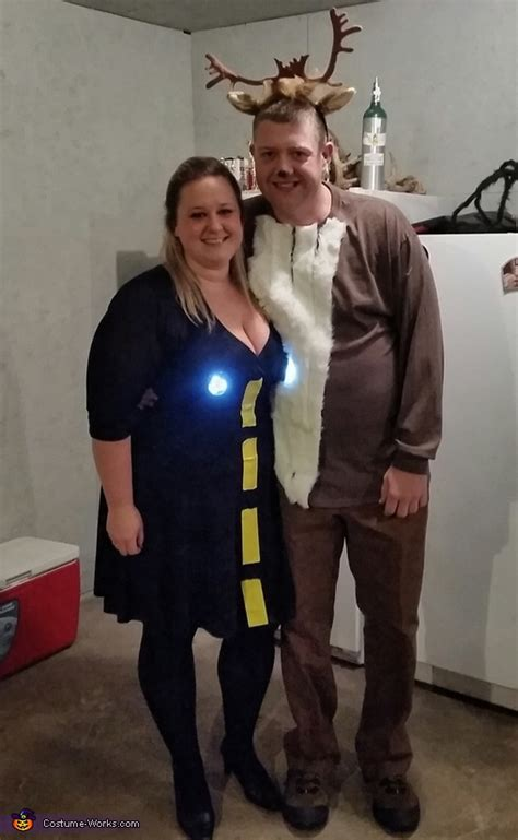 deer  headlights couple halloween costume diy costumes