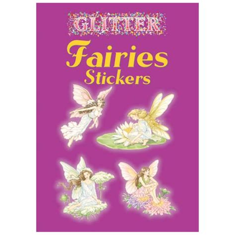glitter narwhals stickers dover activity books stickers books buy dover sticker book glitter fairies
