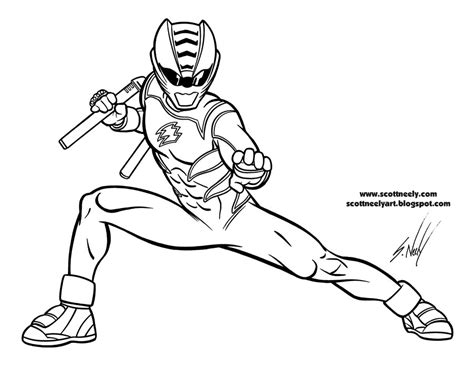 free coloring pages of red ranger jungle fury