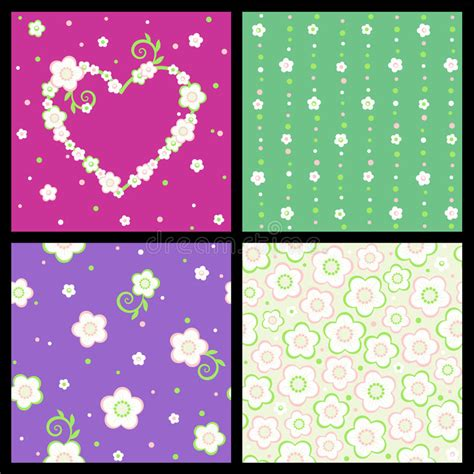 set of floral vector patterns royalty free stock images image 20201649 seamless and floral patterns stock vector illustration of dots 22388785