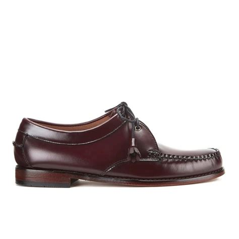 lace up loafers mens g h bass co s lace up leather loafers in purple