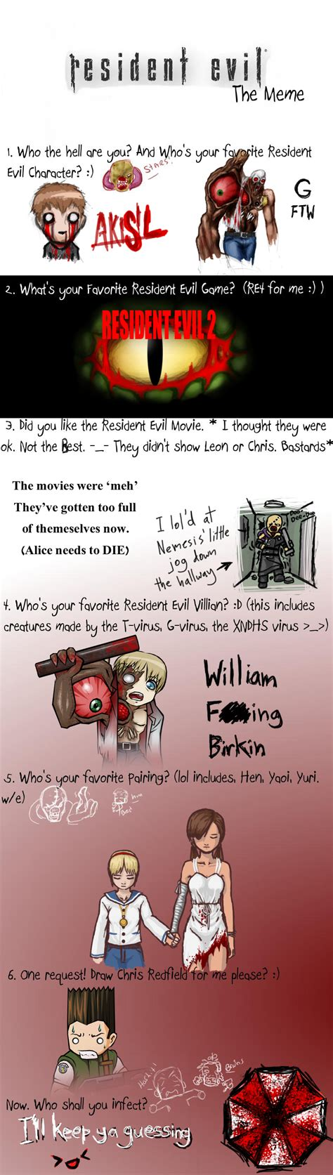 Resident Evil Memes - resident evil meme d by akisil on deviantart