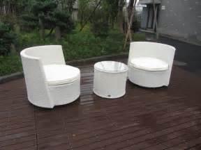 wicker resin patio white furniture set