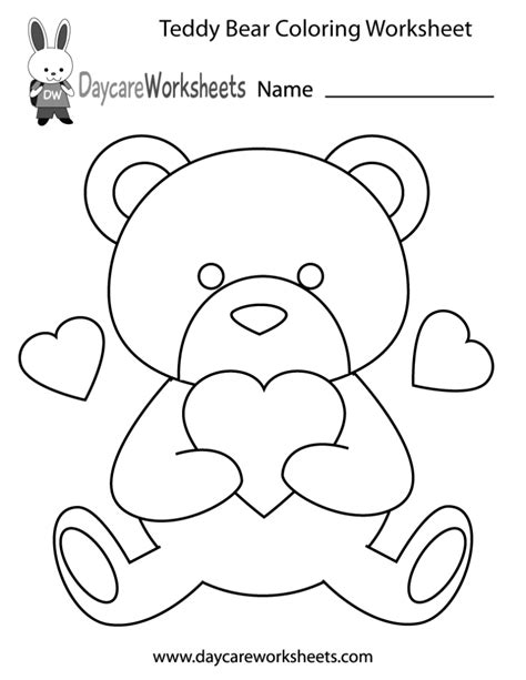 preschool coloring pages and worksheets coloring pages preschool teddy bear coloring worksheet