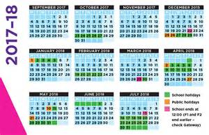 Calendar 2018 Including Holidays School Calendar 2017 2018 Templates