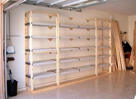 Shelf Designs For Garage garage shelves plans step by step instructions to create