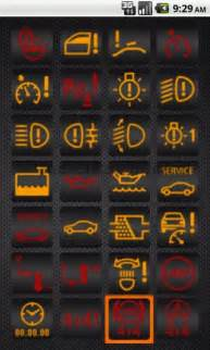 warning light speedo or rev counter picture
