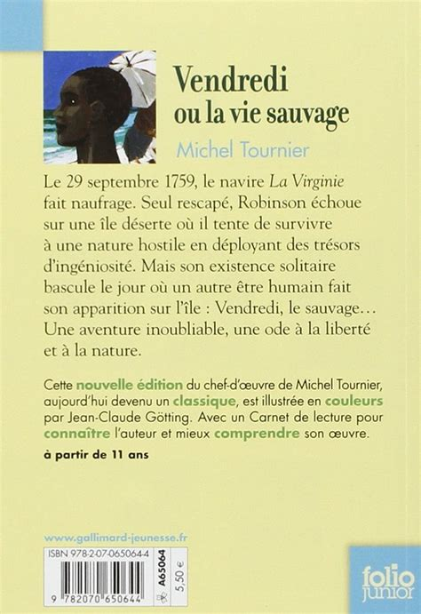 b009wrv5fq vendredi ou la vie sauvage vendredi ou la vie sauvage hommage 224 michel tournier