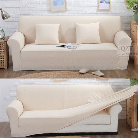 Stretch Sofa Slipcover White Teachfamilies Org White Sofa Cover