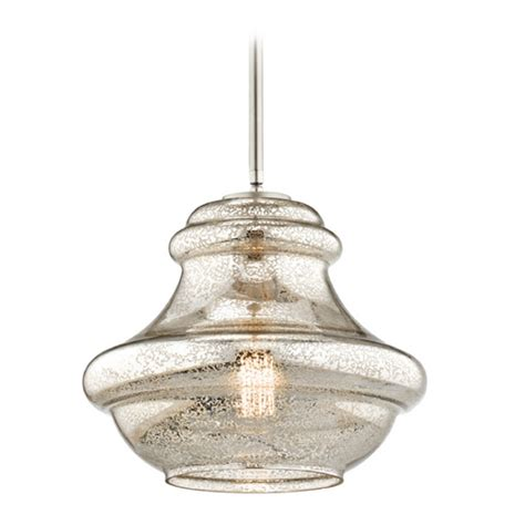 Kichler Lighting Everly Kichler Lighting Everly Brushed Nickel Pendant Light With
