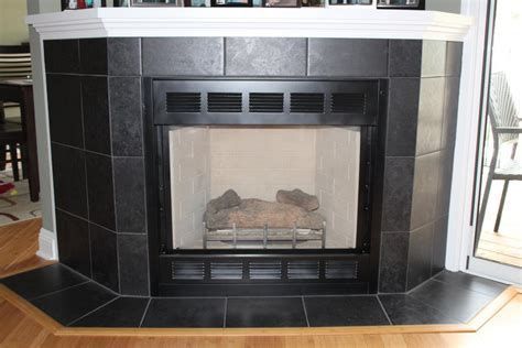 black tile fireplace interior inspiring image of various porcelain tile
