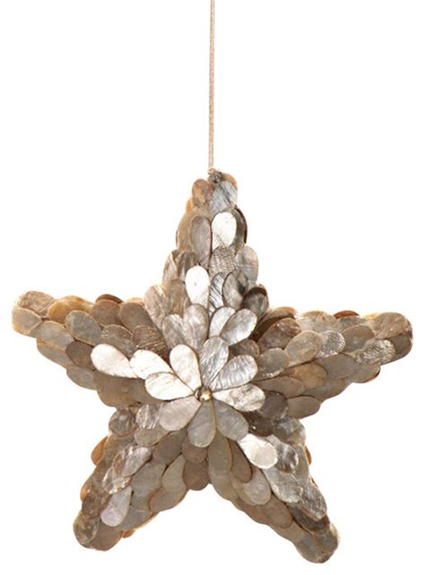 capiz shell star ornament beach style christmas