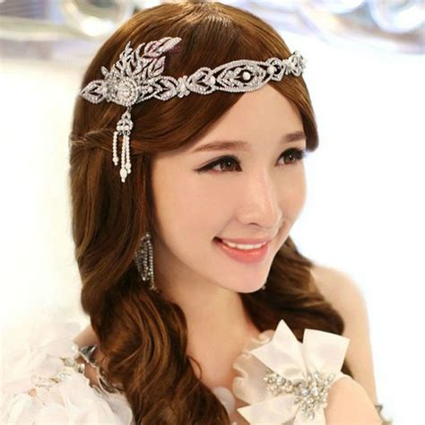 gatsby headpieces 1920s vintage hair accessories pearl crystal crown new
