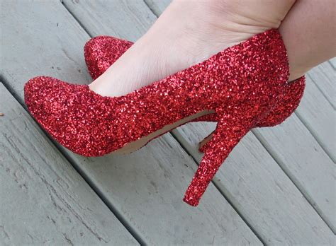 diy glitter shoes crafts after college dorothy s shoes