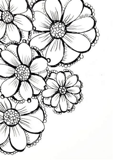 drawing doodle flowers best 25 flower sketches ideas on flower