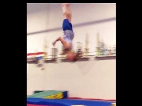 gymnastics back layout full twist round off back handspring full twist tips with coach
