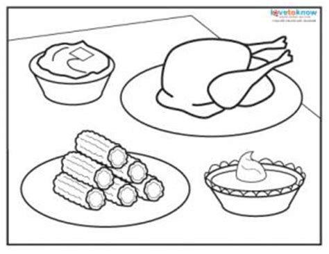 coloring pages for thanksgiving food thanksgiving dinner coloring pages printables happy