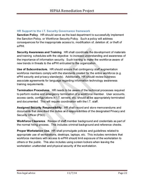 security remediation plan template sle hipaa security rule corrective plan project