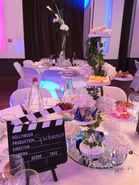 centre de table cinema th 232 me cin 233 ma d 233 coration mariage par g image in