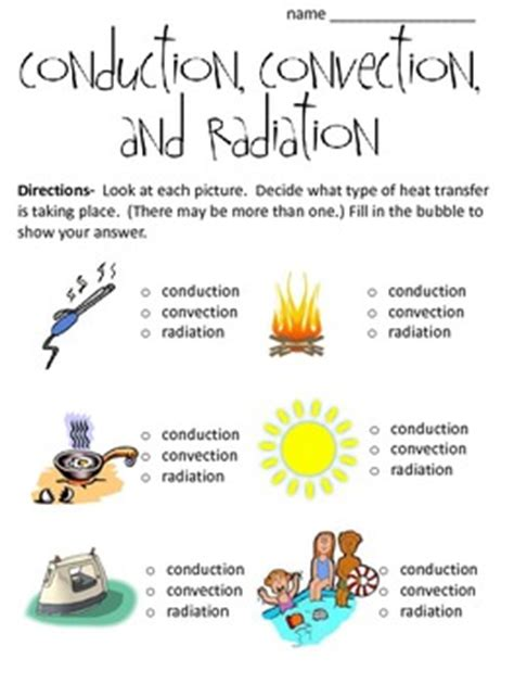 Lava Lamp by Conduction Convection And Radiation Worksheet By Math