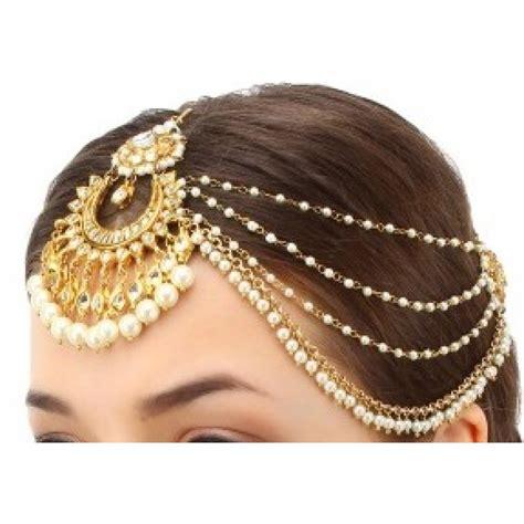 Buy Kundan chandbali style bridal maang tikka