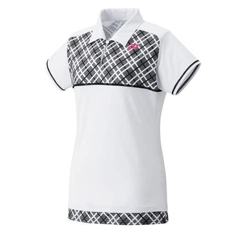 Blouse White Viera yonex womens melbourne polo shirt white black tennisnuts