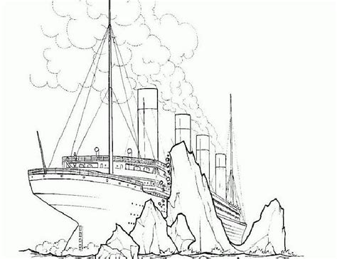 titanic coloring pages titanic sinking ship drawing sketch coloring page